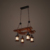 pendant lamp hanging chain ceiling lamp wood restaurant lamp