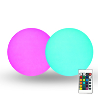 pe plastic multi color waterproof outdoor floating pool led ball light garden