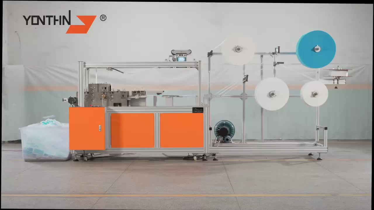 one time complete Ear loop Welding function Full Automatic Face Mask Making Machine with ultrasonic mask machine