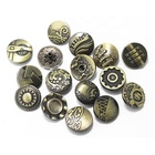Engraved logo brass nickel free jeans snap button