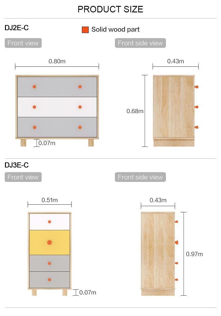 Modern Furniture 3 4 Drawer Filing Wood Living Room Storage Cabinets
