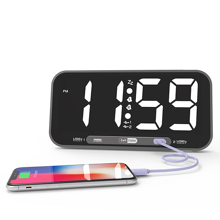 Display A LED di grandi dimensioni Orologio Della Parete Dell'hotel Office Casa Digital Alarm Clock Con 2USB Porta di Ricarica