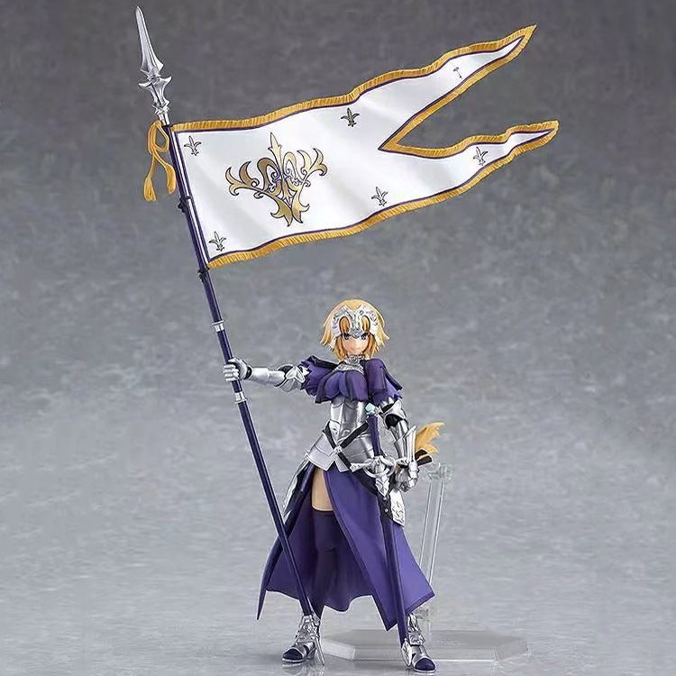 ญี่ปุ่นอะนิเมะFate Grand ORDER Joan of Arcไม้บรรทัดเคลื่อนย้ายได้PVCรูปAction FIGURE FIGMAมือของเล่น