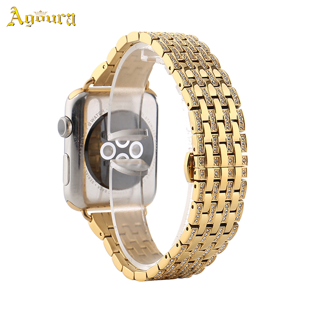 metal diamond watchband