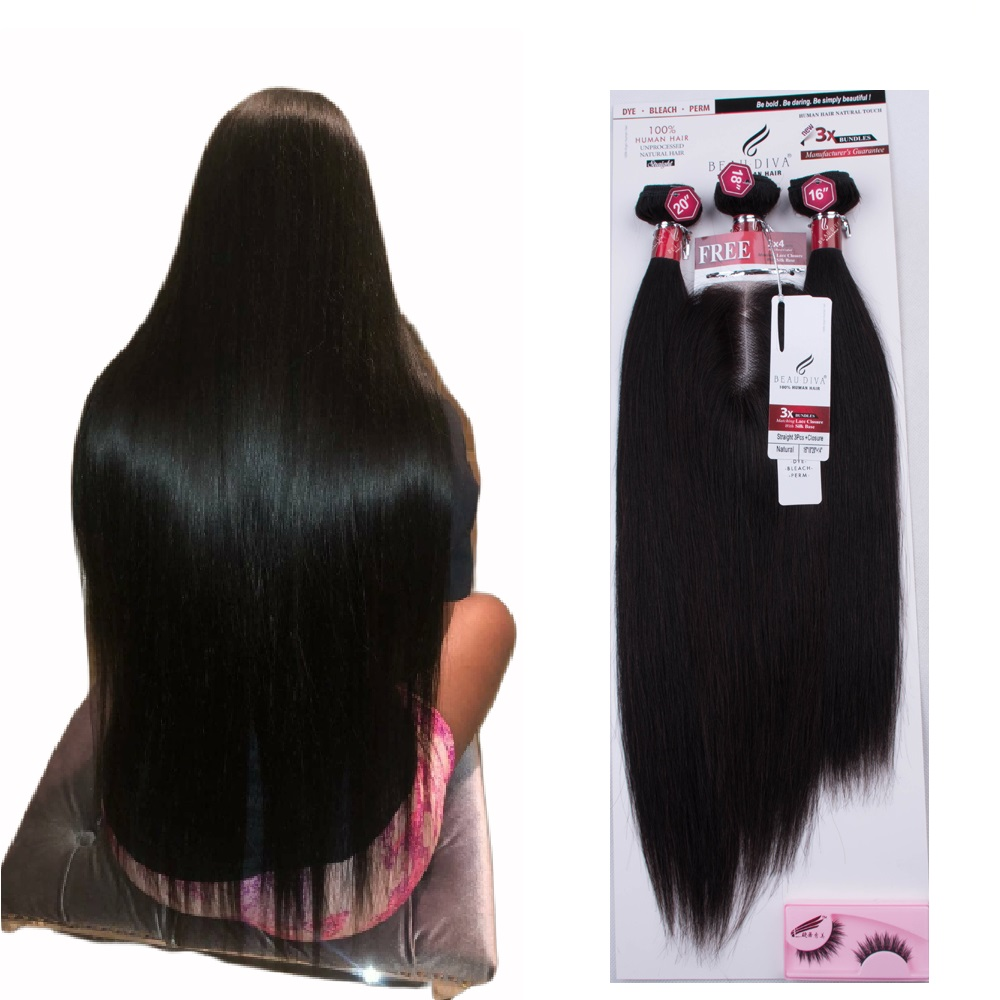 Factory Wholesale New Arrival Good Price 1 Pack Solut <strong>Hair</strong> 60g 60g 55g <strong>Virgin</strong> <strong>Brazilian</strong> 3 Human <strong>Hair</strong> <strong>Bundles</strong> With 2x4 Closure