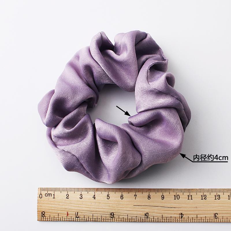 QIYUE 30 Colors Available Hair Accessory Pastel Satin Plain Color Scrunchies