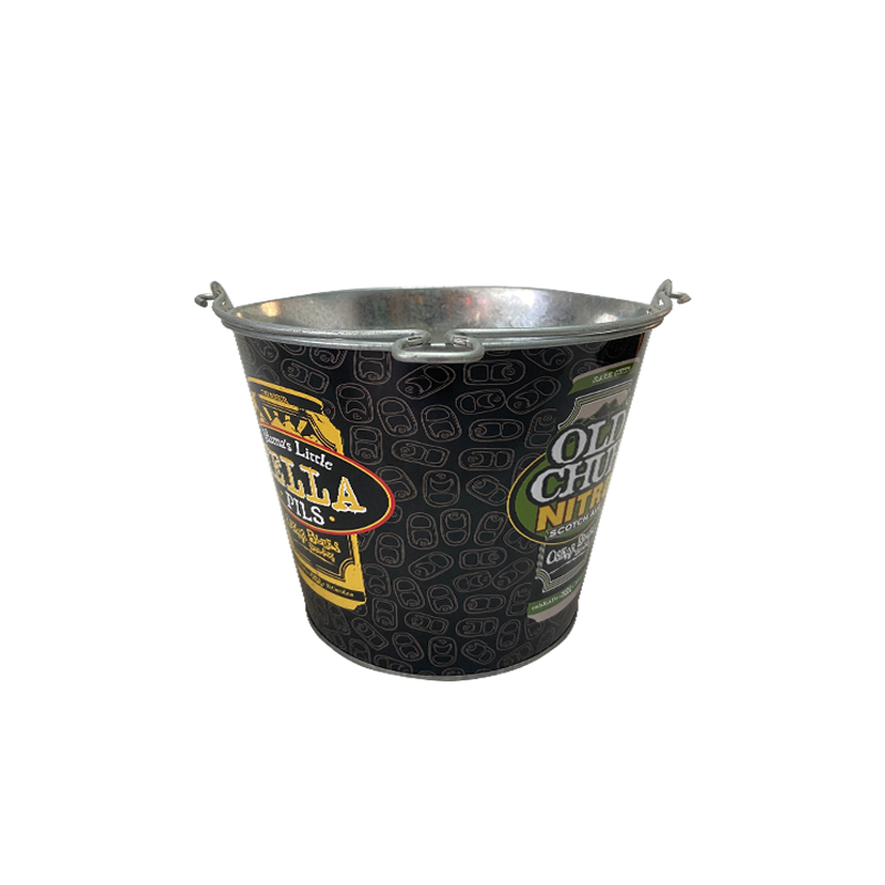 exquisite metal beer bucket with bottle opener