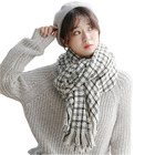 2019 new arrival fashion lady plaid scarf elegant pashmina shawl