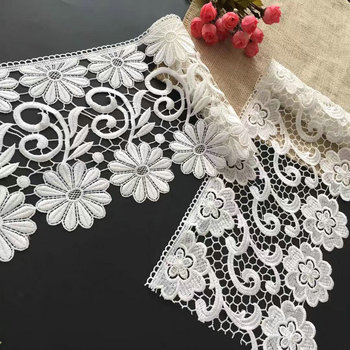 2019 embroidery design flower pattern polyester guipure lace 20CM