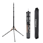 Russia Free Shipping FOSOTO FT-190B Gold Led Light Tripod Stand With Bag For Photo Studio Photographic Lighting