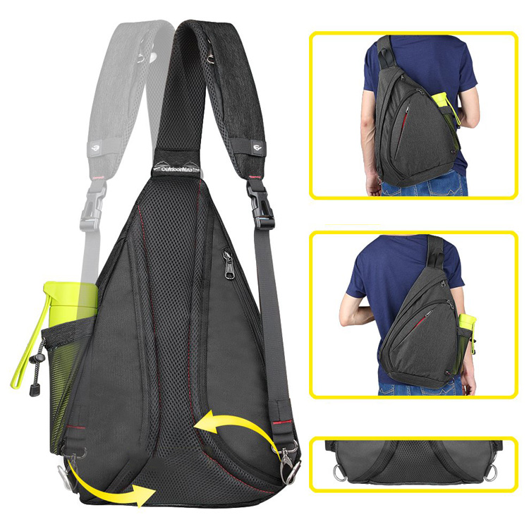Custom Logo Crossbody Backpack Outdoor Sling Bag For Men