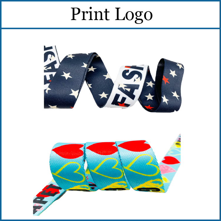 Wholesale Small Moq 25MM Custom Print Debossed Logo Soft Nylon Jacquard Elastic Woven Webbing Strap For Belts