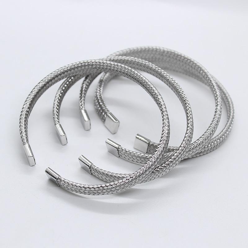 Cheap Stainless Steel Jewelry 6Mm Thin Wire Braided Herringbone Cuff Bracelet Stainless Steel Bangle