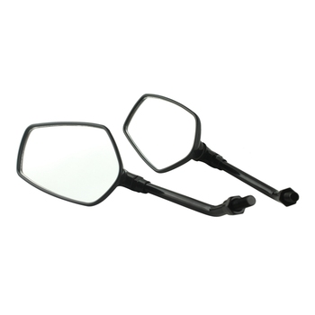 Pair Black Motorcycle Scooter Rearview Side Mirror For ALL Motorcycles with 10mm