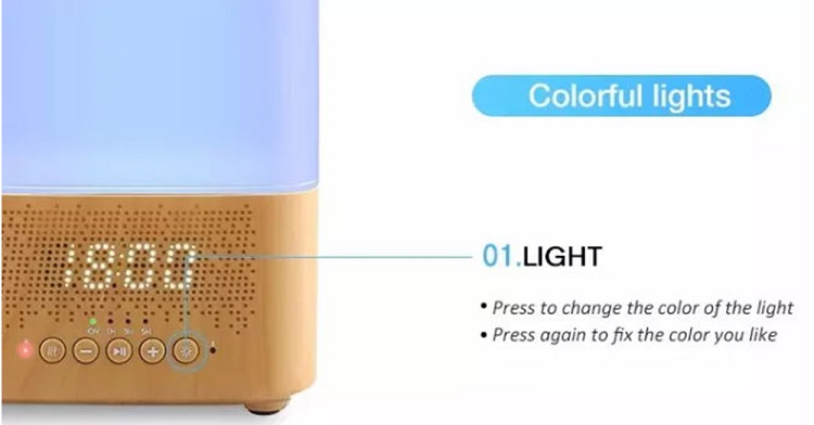 Comfortable	BPA free	bluetooth speaker aroma diffuser