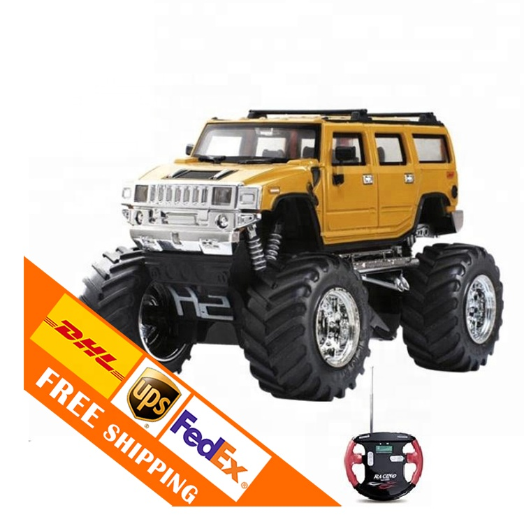 1/43 yarış 4x4 r/c oyuncaklar off road aracı led aydınlatma toptan mikro bigfoot araba uzaktan kumanda canavar araba mini rc kamyon
