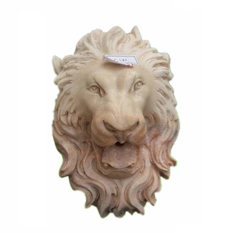 MAF416 Wanxia Red Marble Lion Head Wall Fountain