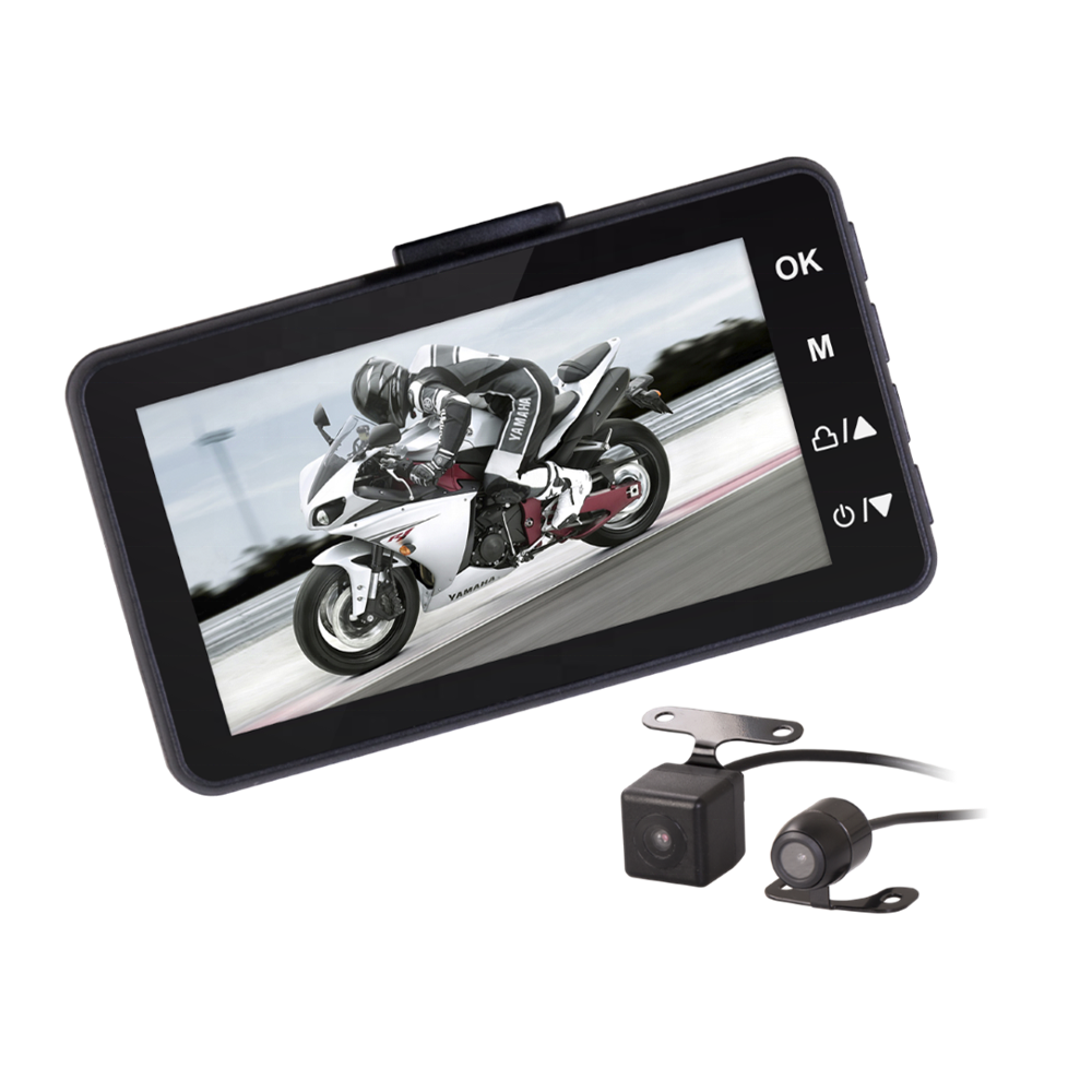 ThiEYE Moto One Dual Lens Recording Front and Rear Camera Waterproof Continuous Power Supply  Motorcycle Dash Camera