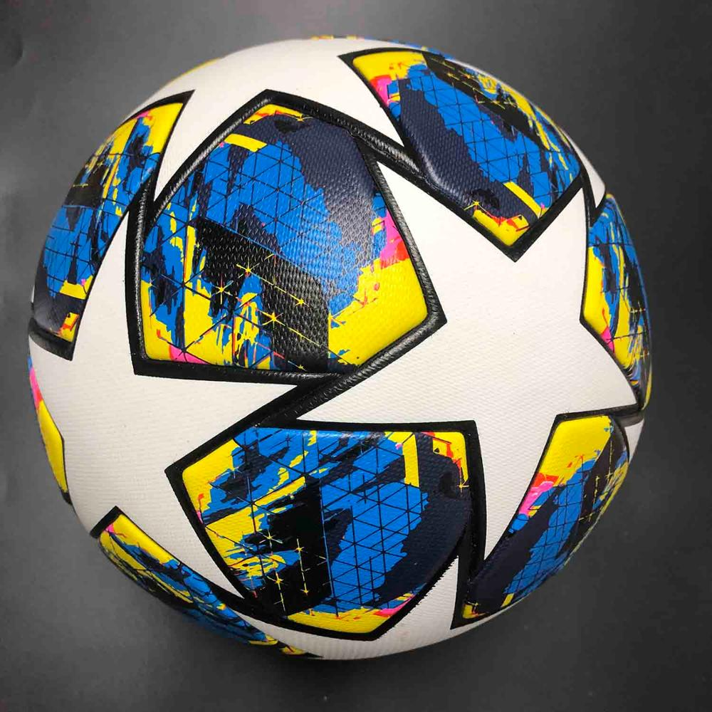 high quality pu leather custom print size 5 thermal bonded soccer football ball