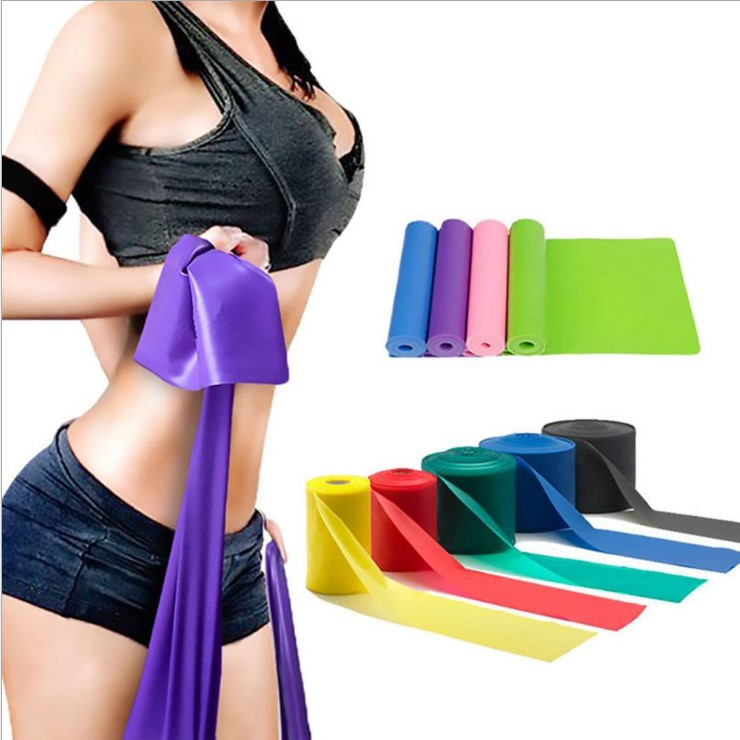 Promo sport yoga stretch band Durable gym resistance bands