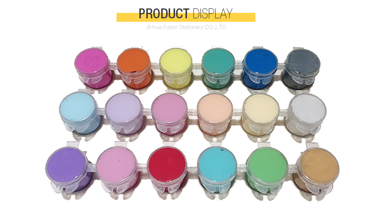 Professional 5Ml 6 Conjoined Acrylic Paint Sets For Children