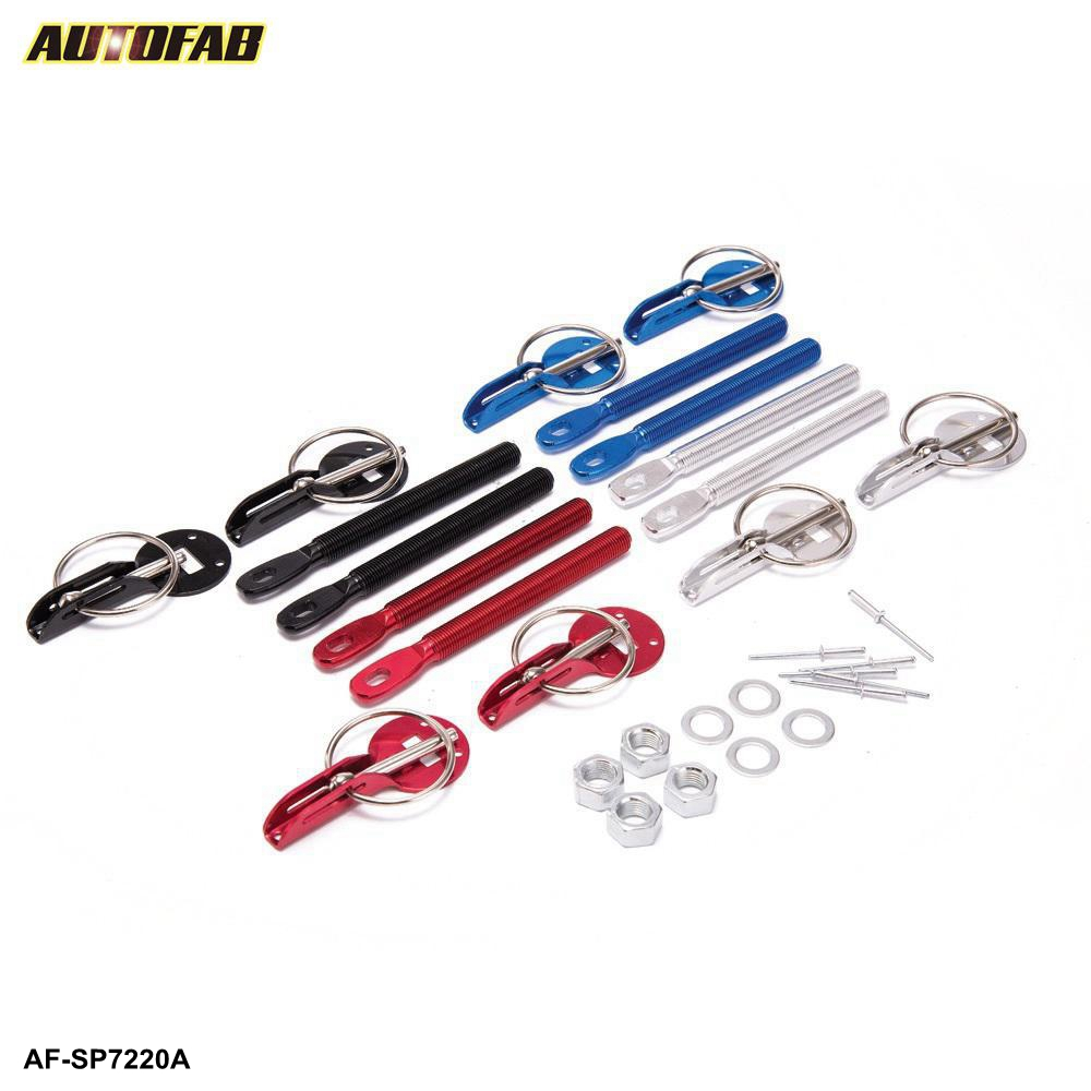 AUTOFAB Fit ALLE Racing Speed aluminium Bonnet Hood Pin Lock Kit Omlaag Hood Sluitpennen AF-SP7220A