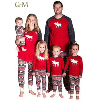 Wholesale New Design Santa Family Unisex Christmas Cotton Custom Family Matching Pajamas Set China Manufacturer