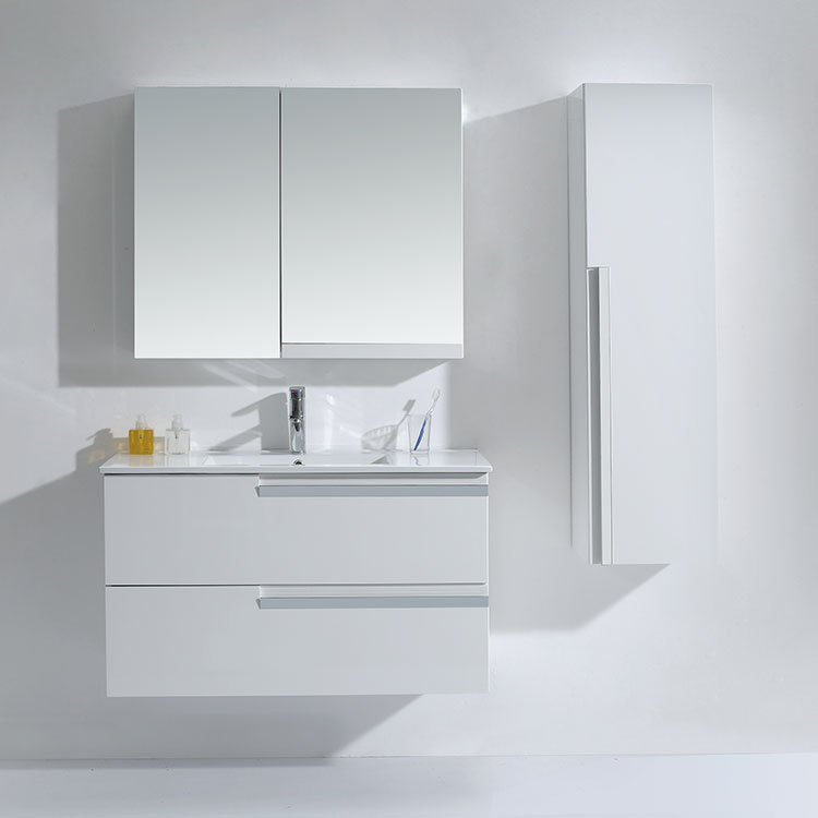 Oem Design Modern Mdf Tall Bathroom Mirror Storage Cabinet With Lights