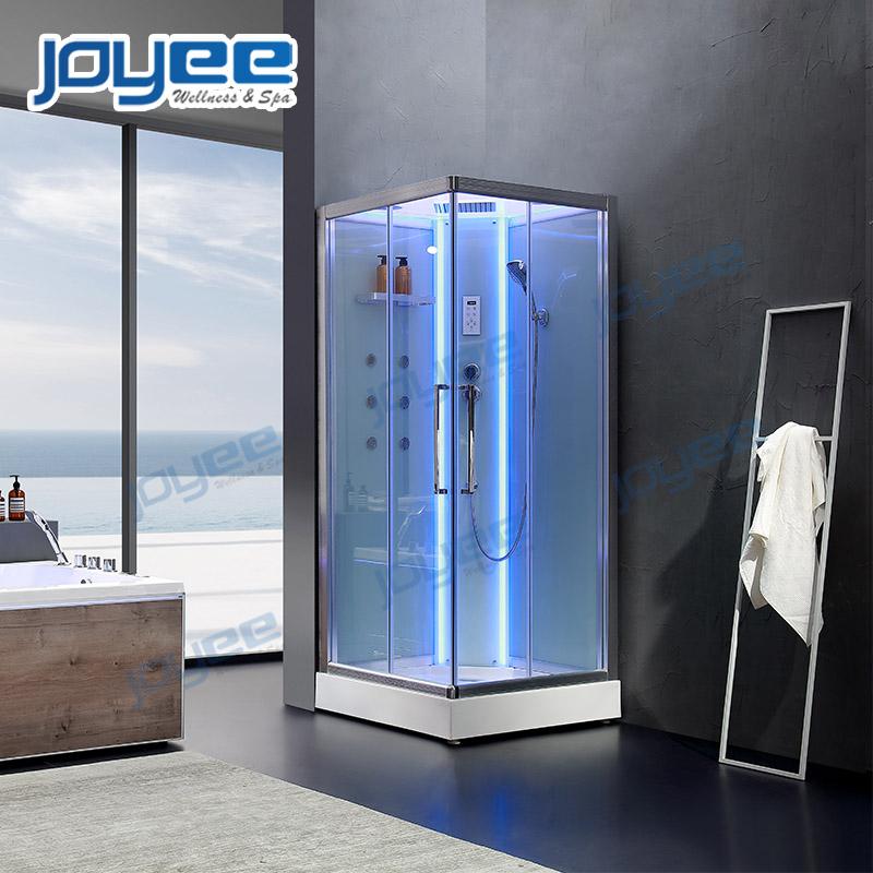 JOYEE Modern Design Shower Room Clear Tempered Glass Steam Shower Cabin Wet Steam Function
