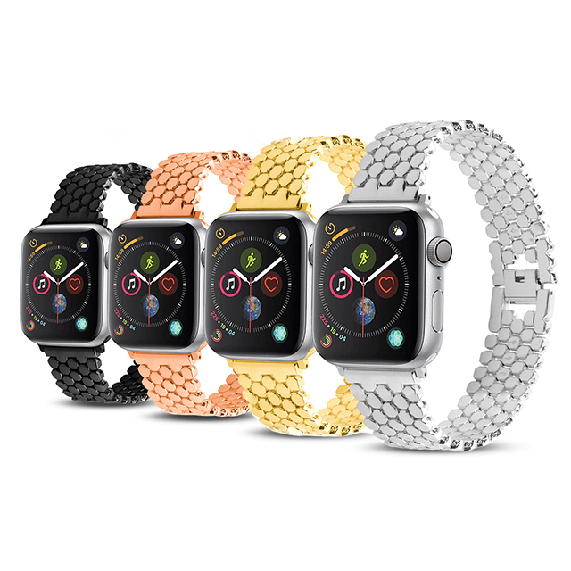 Applicable for Apple watch with diamond strap stainless steel 1234 generation diamond metal watch band strap