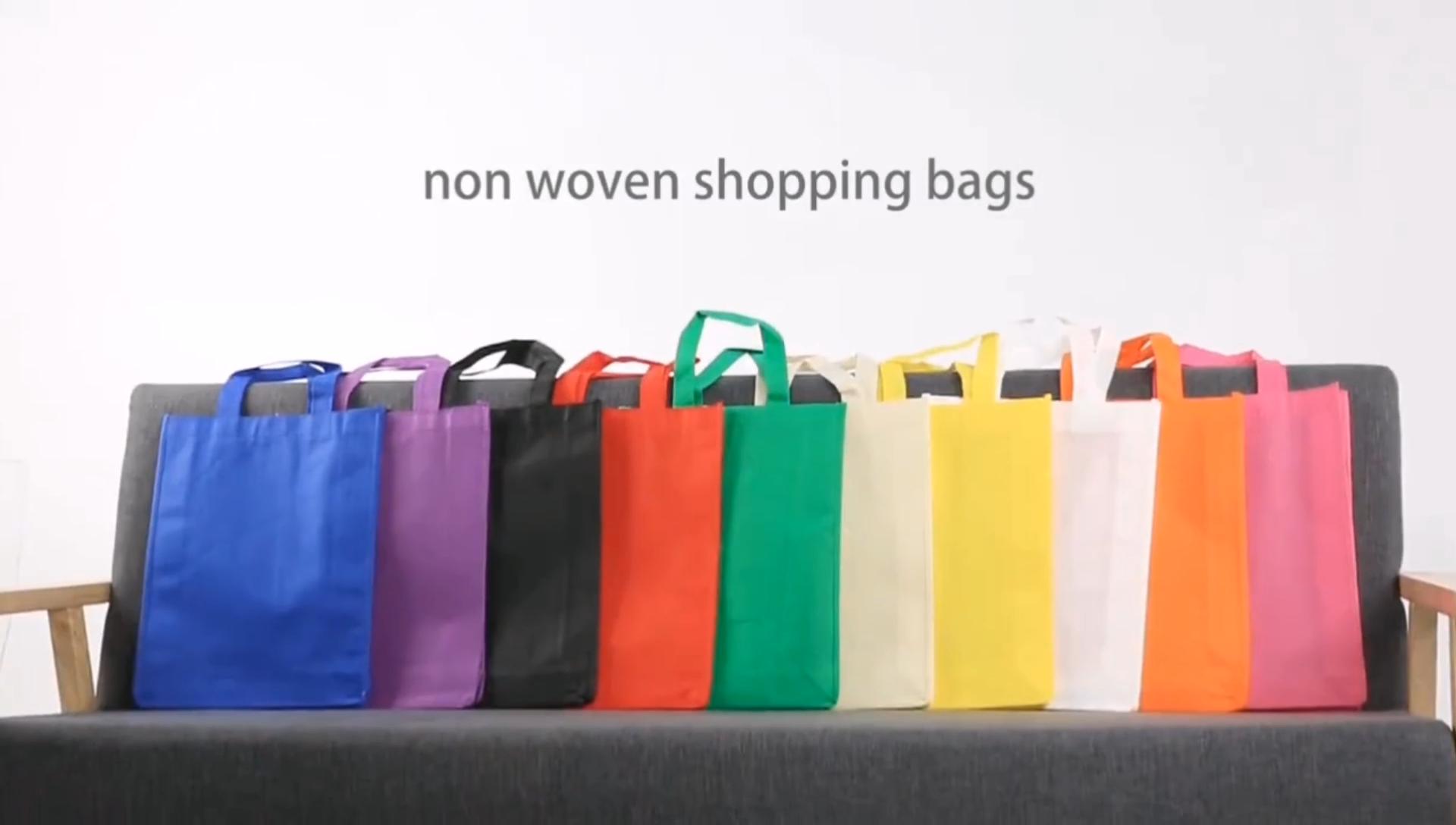 2020ขายส่งที่กำหนดเองNon-ทอกระเป๋าช้อปปิ้งกระเป๋า/กระเป๋าEco