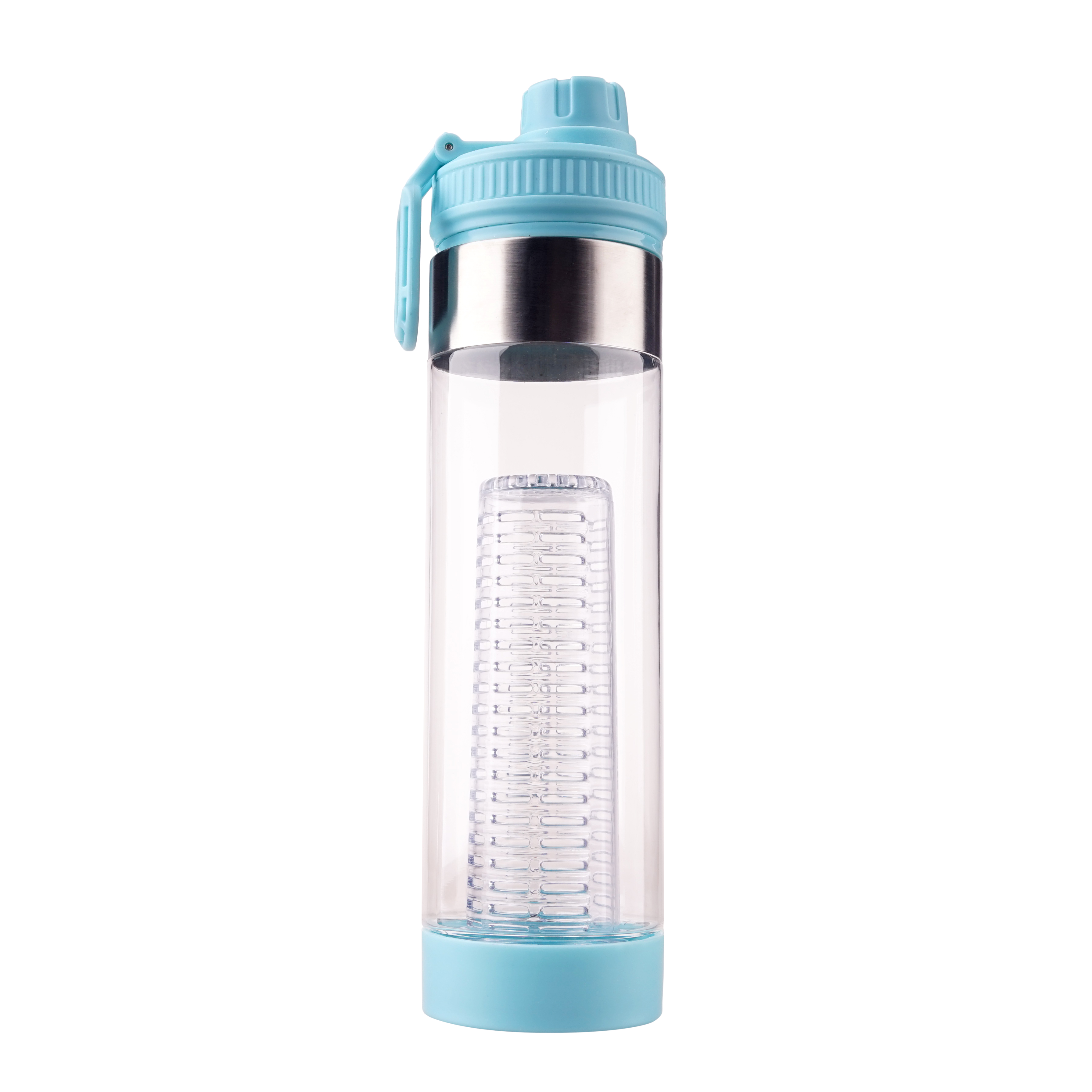 750ml good quality customization color design fruit infuser plastic drinking bottle with carrying handle