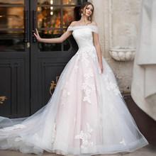 Женское свадебное платье ETHEL ROLYN, розовое ТРАПЕЦИЕВИДНОЕ ПЛАТЬЕ на шнуровке с аппликацией, без бретелек, с рукавами, Vestido De Noiva, 2020(China)