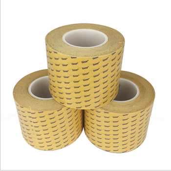 China Manufacturer Tesa 4982 Jumbo Roll Mopp Red Liner Pet Tape Doble sided Polyester Filmic Tape