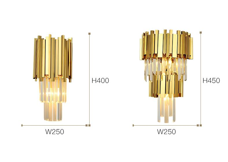 ST-8037M modern chandelier wall lamp lights crystal for home decoration.