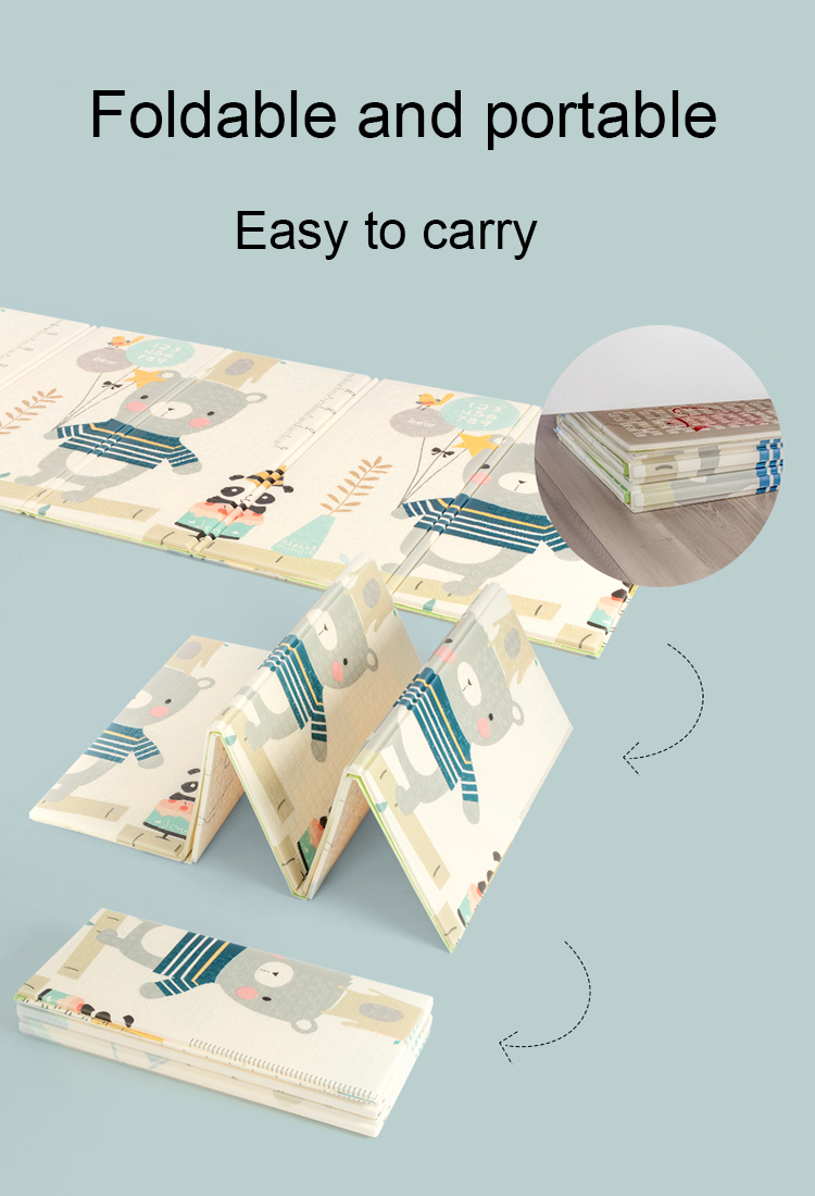 Оптовая продажа мультфильм животных baby play коврик ковер Эко-дружественных мягкой большой игровой нетоксичный складной детский игровой коврик