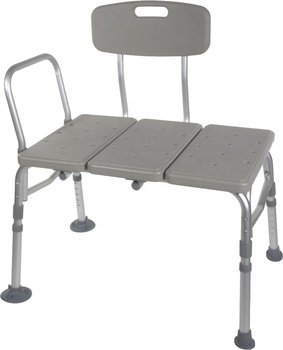 2020 New Design Gray Transfer Bench with 3 Position Backrest