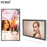 55inch advertising digital signage wall mount touch screen smart tv all in one computer
