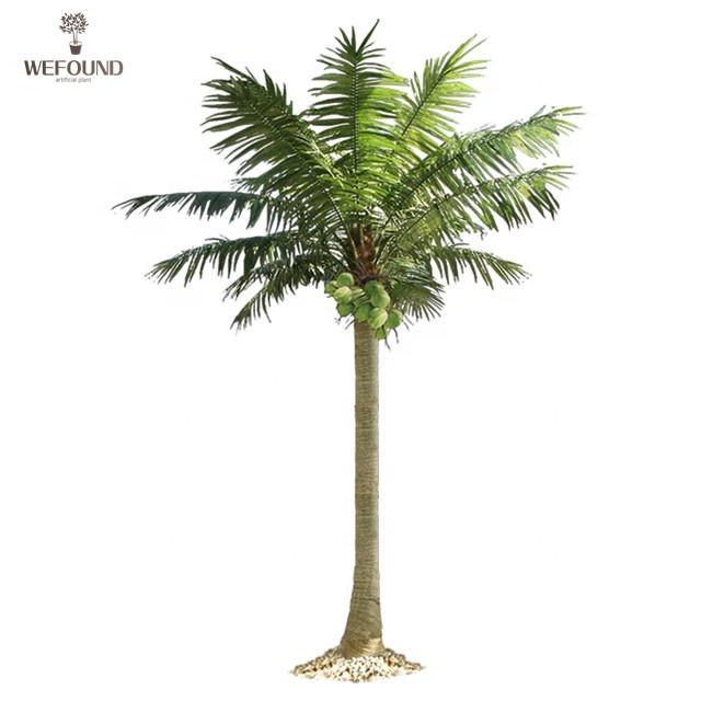 Wefound كبير المناظر الطبيعية الاصطناعي أشجار جوز الهند مع الفاكهة للزينة في الأماكن المغلقة Buy أشجار جوز هند بلاستيكية كبيرة شجرة جوز هند صناعية للزينة الاصطناعية شجرة جوز هند