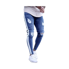 China fabrik hohe qualität niedriger kosten black ripped abendessen mens dünne <span class=keywords><strong>jeans</strong></span>