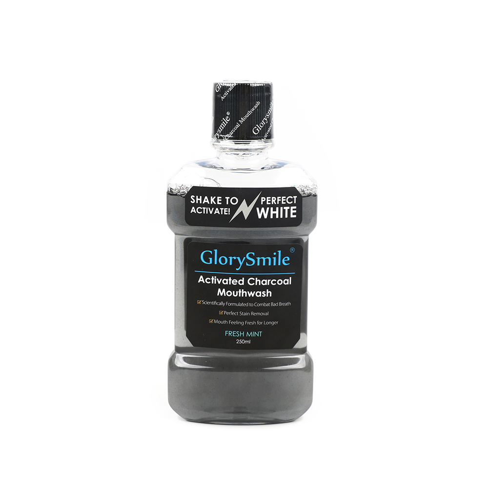 GlorySmile Activated Charcoal Herbal Mint Mouth Wash Bamboo Charcoal MouthWash