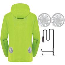Новая летняя мотоциклетная куртка, водонепроницаемая охлаждающая куртка для мужчин и женщин, Солнцезащитная куртка с USB зарядкой, 6 цветов, ...(Китай)