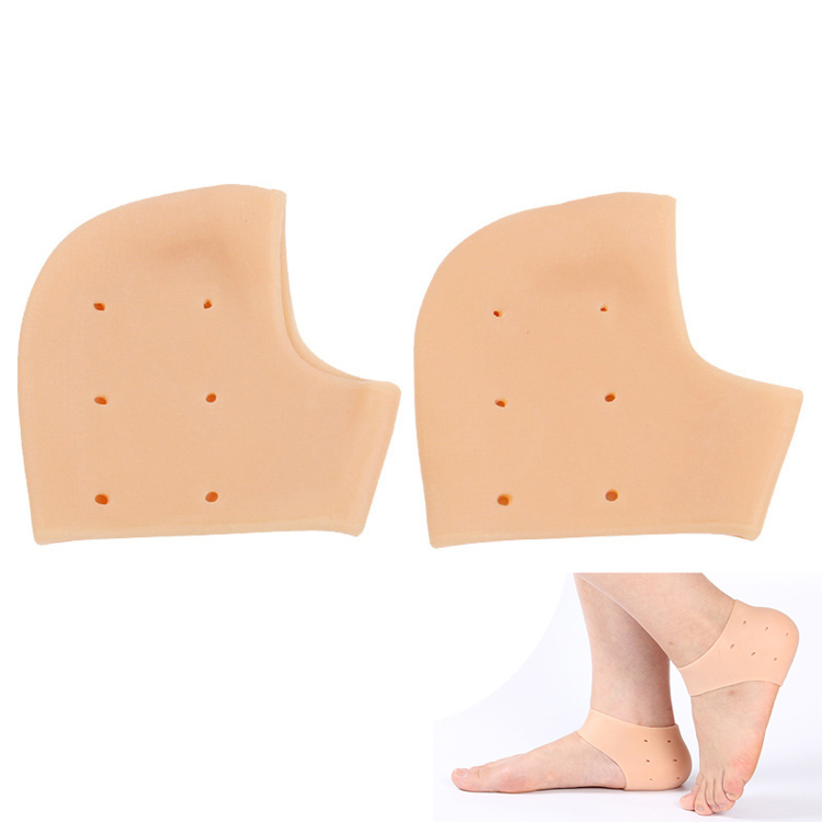 Soft comfortable heel guard silicone gel set 2 pieces shoe heel protector relieve pain from plantar fasciitis spur cracked heels