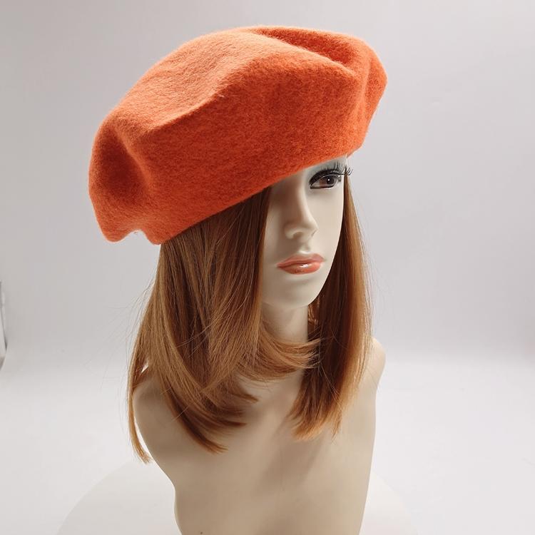 Cappello Femminile Autunno e Inverno Berretto di Lana Britannico di Lavoro A Maglia Artista Beret cappello 100% cappello di lana per i bambini
