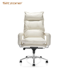 Executive genuine Leather Upholstered office chair