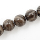 Wholesale natural Grey Sandalwood Fossil loose stone beads for jewelry making