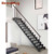 Prefab led oak wooden treat glass panel stair diy build floating staircase
