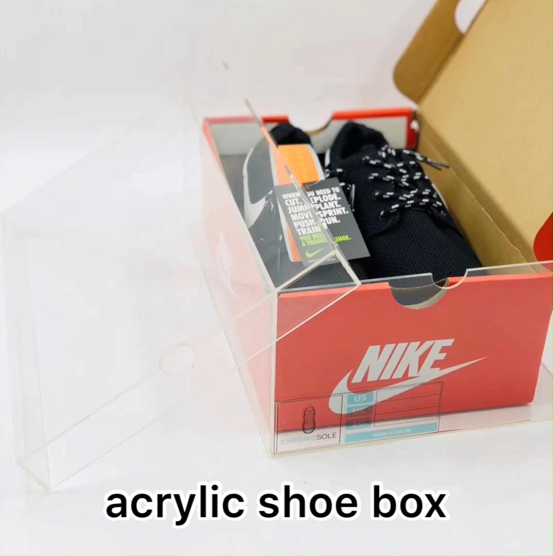 शीर्ष बेच उत्पादों में लोगो मुद्रण के साथ एक्रिलिक जूते बक्से व्यापार आश्वासन