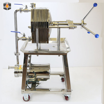 Stainless Steel portable oil filter castor oil plate and frame filter canola oil filter machine