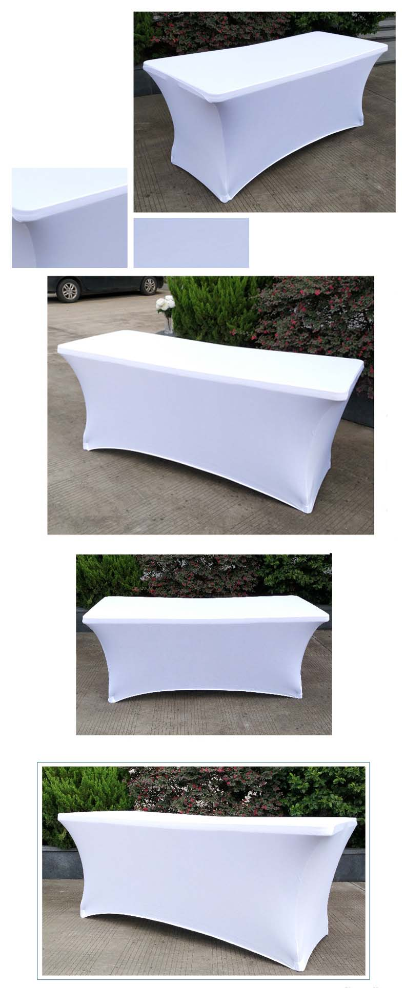 4ft 6ft 8ft Fitted Stretch Rectangular Tablecloth,  Strong Elastic Soft Spandex Table Cover Table Cloth/